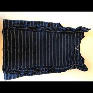 Gap kids girl's sleeveless ruffle shirt